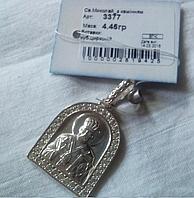 Подвес Николай  из серебра 925 пробы с фианитами