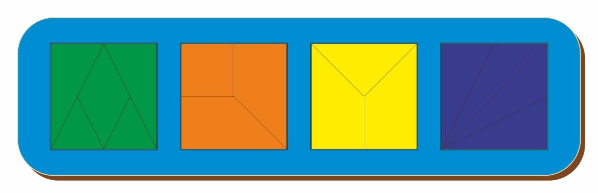 Сложи квадрат, Б.П.Никитин, 4 квадрата, ур.2, 300*90 мм, 064503