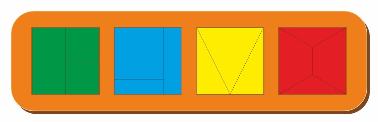 Сложи квадрат, Б.П.Никитин, 4 квадрата, ур.1, 300*90 мм, 064502