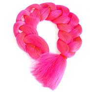 Канекалон однотонный ярко-розовый 130/65 см