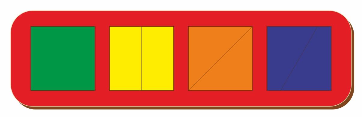 Сложи квадрат, Б.П.Никитин, 4 квадрата, ур.1, 300*90 мм, 064501