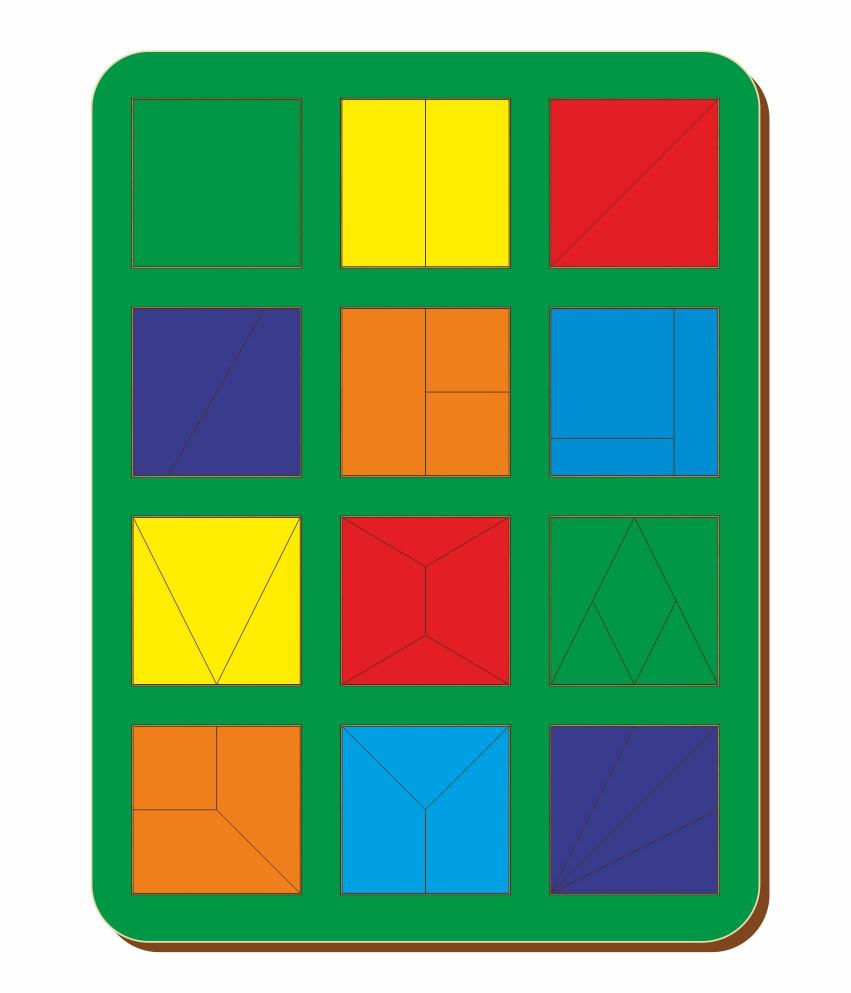 Сложи квадрат, Б.П.Никитин, 12 квадратов, ур. 1, 300*240 мм, 064401