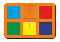 Сложи квадрат, Б.П.Никитин, 6 квадратов, ур.4, 240*170 мм, 064304