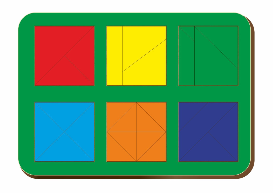 Сложи квадрат, Б.П.Никитин, 6 квадратов, ур.3, 240*170 мм, 064303