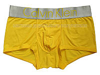 Мужские трусы боксёры Calvin Klein серия Steel  модал жёлтые