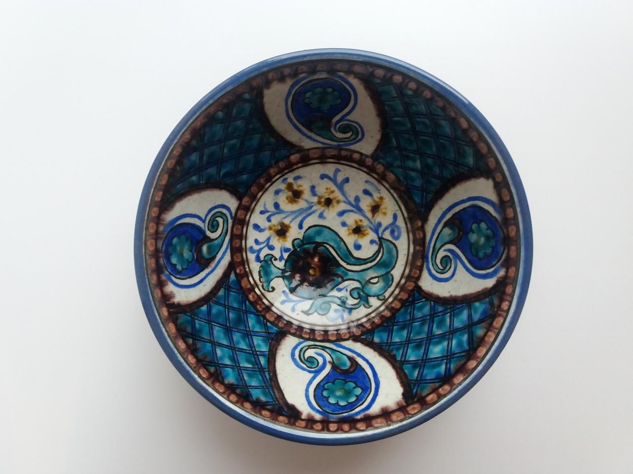 Уникальная узбекская посуда d 16 см. Риштан