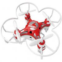 Квадрокоптер карманный дрон  для полета дома и на улице FUQI FQ777-124 красный