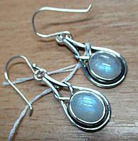 """Элегантные серьги с натуральным  лунным камнем  """"Египет"""" от студии LadyStyle.Biz, фото 1"""