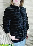 Натуральная норковая шуба 70 см. отстегивается низ рукава