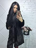 """Шуба """"Норка"""" чёрно-коричневая длинная  из искусственного меха , фото 1"""
