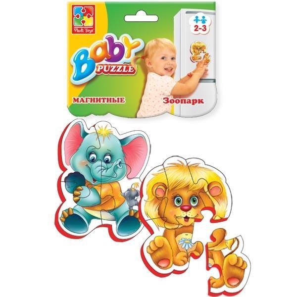 Магнитные беби пазлы Vladi Toys Зоопарк 2 шт. (VT3208-01)