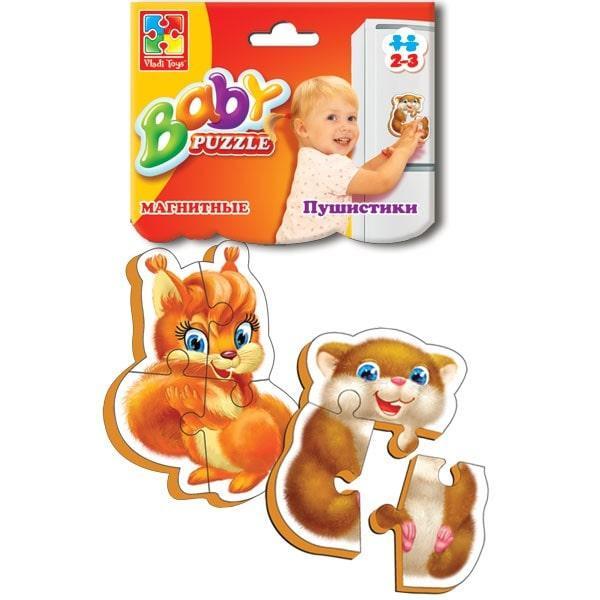 Магнитные беби пазлы Vladi Toys Пушистики 2 шт. (VT3208-04)