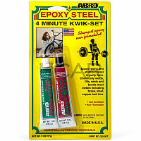 Abro ES-507 Epoxy Steel 4-минутный эпоксидный клей для металла, 57 г