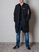 Длинный мужской бомбер Olymp для стильных и практичных мужчин. Отличное качество. Купить онлайн. Код: КДН2392