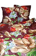 Постельное белье Nostra полиэстер 555 Brown Двуспальный комплект