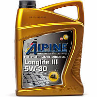 Alpine Longlife III 5W-30 (MB-229.51 BMW LL-04) моторное масло, 4 л (0100288)