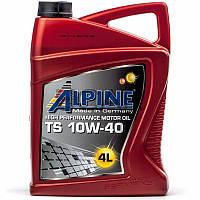 Alpine TS 10W-40 (API SL/CF) полусинтетическое моторное масло, 4 л