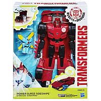 Трансформеры Сайдсвайп и миникон Виндстрайк  Transformers Power Surge Sideswipe and Wind Strike Toy Red