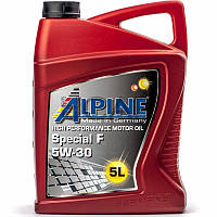 Alpine Special F 5W-30 (ACEA A5/B5) синт. моторное масло, 5 л (0100182)