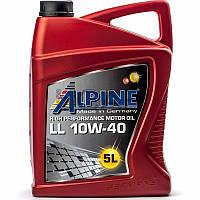Alpine LL 10W-40 (ACEA A3/B3/B4/E2) минеральное моторное масло, 5 л