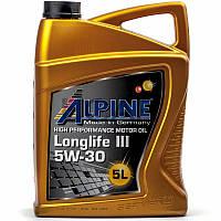 Alpine Longlife III 5W-30 (MB-229.51 BMW LL-04) моторное масло, 5 л (0100282)