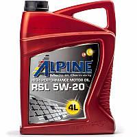 Alpine RSL 5W-20 (API SN CF-5) синтетическое моторное масло, 4 л