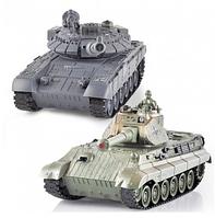 Танковый бой t90 и tiger king на р/у zegan 99820 hn
