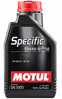 Motul Specific 504 00 507 00 SAE 5W-30 синт. моторное масло, 1 л (838711)