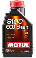 Motul 8100 ECO-clean SAE 5W-30 синтетическое моторное масло, 1 л (841511)