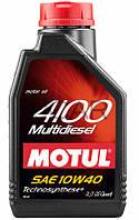 Motul 4100 Multidiesel SAE 10W-40 полусинт. моторное масло, 1 л (381001)