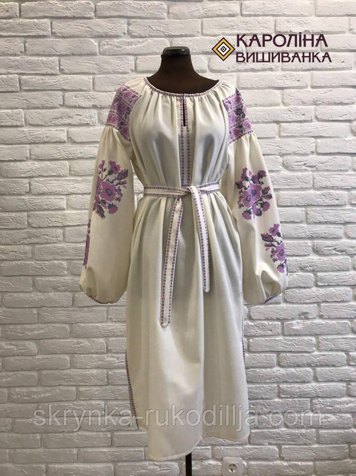 7845b07e040977 Заготовка непошита для вишивання бісером або нитками жіночої сукні  вишиванки БОХО етно
