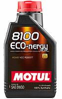 Motul 8100 ECO-nergy SAE 0W-30 синтетическое моторное масло, 1 л