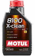 Motul 8100 X-clean SAE 5W-30 синтетическое моторное масло, 1 л (854311)
