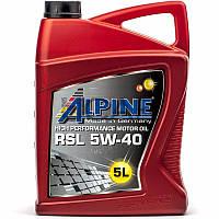 Alpine RSL 5W-40 (API SN/CF) синтетическое моторное масло, 5 л