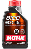 Motul 8100 ECO-lite SAE 0W-20 синтетическое моторное масло, 1 л (841111)