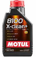 Motul 8100 X-clean+ SAE 5W-30 синтетическое моторное масло, 1 л