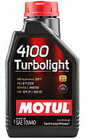 Motul 4100 Turbolight SAE 10W-40 полусинтетическое моторное масло, 1 л