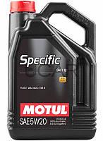 Motul Specific 948 B SAE 5W-20 синтетическое моторное масло, 5 л (867351)