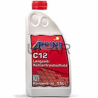 Alpine C12 Langzeitkühlerfrostschutz красный антифриз-концентрат, 1,5 л (0101181)