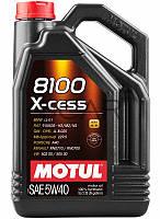 Motul 8100 X-cess SAE 5W-40 синтетическое моторное масло, 5 л