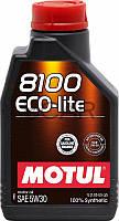 Motul 8100 ECO-lite SAE 5W-30 синтетическое моторное масло, 1 л (839511)