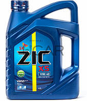 ZIC X5 10W-40 Diesel дизельное моторное масло, 4 л (162660)