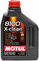 Motul 8100 X-clean SAE 5W-40 синтетическое моторное масло, 2 л