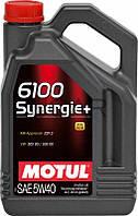 Motul 6100 Synergie+ SAE 5W-40 синтетическое моторное масло, 4 л