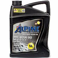 Alpine Gear Oil TDL 80W-90 API GL-4/GL-5/MT-1 транс. масло, 5 л (0100722)