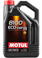 Motul 8100 ECO-nergy SAE 0W-30 синтетическое моторное масло, 5 л (872051)