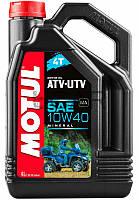 Motul ATV-UTV 4T SAE 10W40 моторное масло для квадроциклов, 4 л