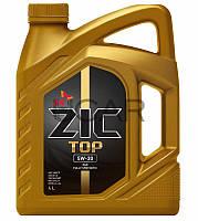 ZIC TOP 5W-30 синтетическое моторное масло на основе ПАО, 4 л (162612)