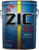 ZIC X5 10W-40 полусинтетическое моторное масло, 20 л