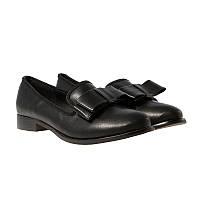 Туфли лоферы женские «Elisabeth» черные на низком ходу, Черный, 38 , фото 1
